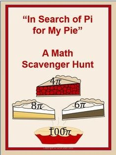 National Pi Day Scavenger Hunt, the winner gets a Geometry Problems, Word Problems, Last Day Of School, School Stuff, Middle School, Area Of A Circle, Math Resources, Classroom Resources, Classroom Ideas