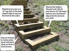 How to build steps up a hill: