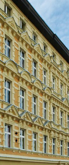 Facade of a tenement house in Wrocław, Poland