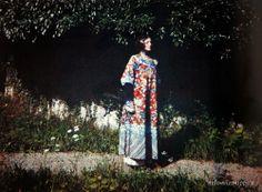 "Emilie Flöge in the ""Dragon"" dress, 1913"
