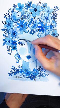 Abstract Watercolor Art, Watercolor Portraits, Watercolor Paintings, Watercolor Fashion, Abstract Flowers, Abstract Paintings, Water Color Abstract, Watercolor Jellyfish, Abstract Portrait Painting