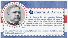 100+ Facts About US Presidents 21- Chester A Arthur