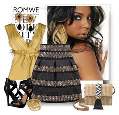 """""""ROMWE SKIRT"""" by fashionb-784 ❤ liked on Polyvore featuring H&M, SCERVINO STREET, Michael Antonio, Stella & Dot, ABS by Allen Schwartz and Dolce&Gabbana"""