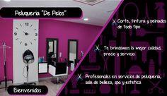 """Pieza grafica de la peluquería """"De Pelos"""" en donde se detecto oportunidad de estrategia digital"""