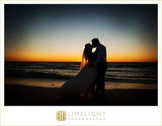 Marco Beach Ocean Resort, Limelight Photography, Beach Wedding, Florida Wedding, Rustic Beach Wedding, romantic beach wedding, sunset wedding, bride, groom, kiss