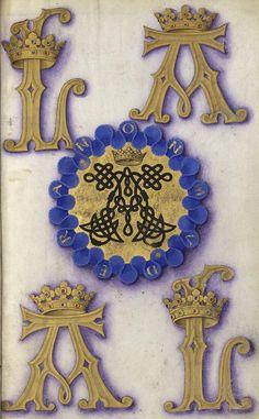 """Cordelière et devise (Non mudera """"Je ne changerai pas"""") d'Anne de Bretagne, reine de France, Grandes Heures d'Anne de Bretagne, Ms Latin 9474, f°238r"""