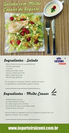 salada com molho ceasar de iogurte