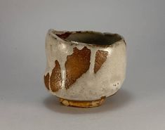 Chawan, tea bowl for japanese tea ceremony, for preparing and drinking matcha. Red slip. White crackle glaze. Created in a wabi-sabi aesthetic way by Ukrainian ceramic artist. Handbuilt, glazed and wood fired at Pottery Park studio Kiln in 2017. width 11.5cm height 10.5cm volume