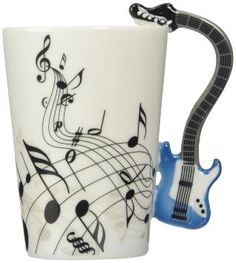 Mugs For The Music Lover Blue Electric Guitar Music