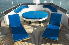 AMZ - Motor Yacht - - Discover your Glamorous Mediterranean Experience - GMEDE Motor Yacht, Outdoor Furniture, Outdoor Decor, Sun Lounger, Home Decor, Chaise Longue, Decoration Home, Room Decor, Home Interior Design