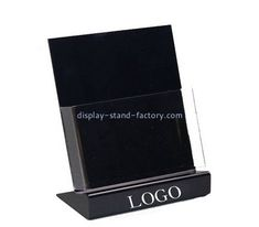 Custom table top acrylic pamphlet holder with sign NBD-619