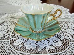 Stunning Vintage Shafford Fine Bone China Tea Cup by EclecticGals