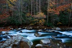 Great Smoky Mountains National Park, Tennessee: The little river flows through the Tennesse side of the national park, the most visited park in the country. #MomentstoConserve