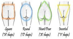 We all know about different body shapes and their grouping  in 4 categories:hourglass, apple, pear, and square.But, what do you know about the different butt shapes?