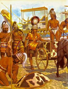 Mycenaean War party disembarks from their ships.