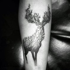 Small Male Deer Hunter Tattoos