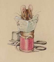 "From the book ""The Tailor of Gloucester""  written and illustrated by Beatrix Potter ... Think ""Peter Rabbit"""