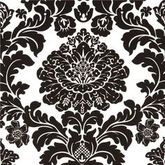 tessuto Michael Miller Delovely Damask bianco-nero - Tessuti ornamentali - Tessuti - negozio kawaii modeS4u