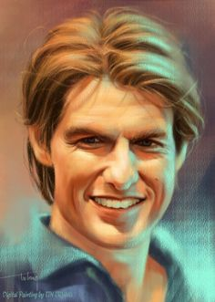 Tom Cruise - My Digital Painting ! by Tintrung on DeviantArt