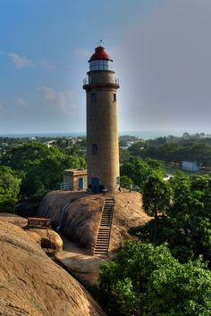 Mahabalipuram Lighthouse, India- by RAMASUBRAMANIYAN