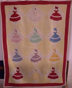 Parasol Ladies (without their parasols) antique quilt