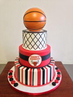 March Madness Basketball Themed Birthday Cake l #mybirthday