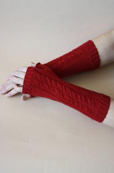 Gorgeous merino wool knit fingerless gloves winter | Etsy Wrist Warmers, Hand Warmers, Fingerless Gloves Knitted, Knitted Hats, Beginner Knit Scarf, Knitting Baby Girl, Girl With Hat, Knitting Patterns, Merino Wool