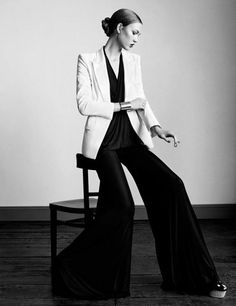 The trousers are amazing! Karlie Kloss, Photographed by Paul Wetherell for Vogue UK -- January 2011