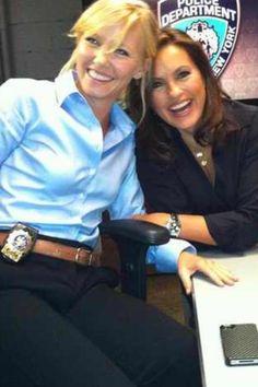 mariska hargitay and kelli giddish... Glad to see Kelli back on a show I love. Missed her since being FakeDixie on AMC