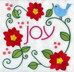 Christmas Joy Square design (D2866) from www.Emblibrary.com