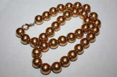 Vintage Necklace 12 kt GF Bead 1920s Jewelry by patwatty on Etsy, $50.00