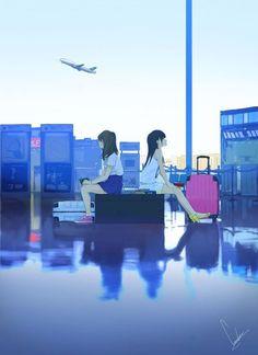 images like illustration anime art Manga Anime, Manga Art, Wallpaper Animes, Graphisches Design, Image Manga, Anime Kunst, Anime Scenery, Anime Kawaii, Jolie Photo