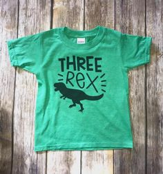 Three Rex Boys Dinosaur T-Shirt Third Birthday Shirt - Birthday Shirts - Ideas of Birthday Shirts - 3rd Birthday Party For Boy, Birthday Themes For Boys, Birthday Boy Shirts, Dinosaur Birthday Party, Birthday Party Themes, Birthday Ideas, Party Shirts, Pool Parties, Kid Parties