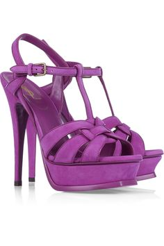 Everytime I venture into Barney's I always check out their YSL shoes even though they are so far out of my price range. So gorgeous.
