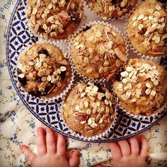 blueberry breakfast muffins - my lovely little lunch box Blueberry Juice, Blueberry Breakfast, Breakfast Muffins, Breakfast Recipes, Healthy Meals For Kids, Healthy Sweets, Kids Meals, Healthy Food, Recipes