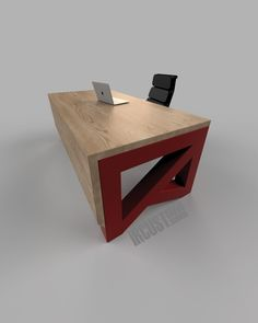 The Epitome Desk.  Modern Industrial Waterfall Desk.  Steel + Maple Statement Piece for any office.  Contact us for YOUR 100% Custom Design.   iRcustom.com Home Gadgets, Modern Industrial, Table Furniture, Wrought Iron, Custom Design, Woodworking, Desk Ideas, Contemporary, Steel