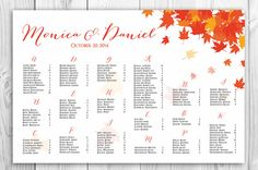 FREE RUSH SERVICE 24 hours  Autumn Wedding Seating by HappyBlueCat, $40.00