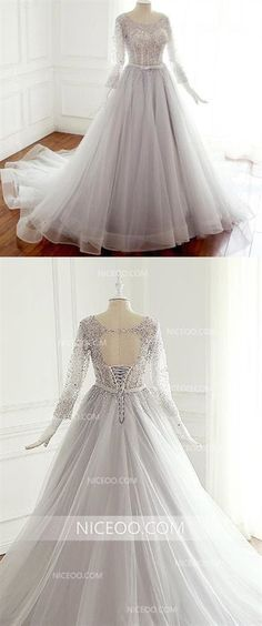 A Line Round Neck Long Sleeves Cut Out Wedding Dresses Best Bride Gown With Rhinestone Inexpensive Bridesmaid Dresses, Cheap Wedding Dresses Online, Pink Wedding Dresses, Affordable Wedding Dresses, Cheap Prom Dresses, Bridal Dresses, Nice Dresses, Henna Designs, Bride Gowns