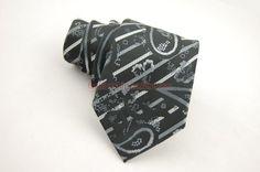Men's Pattern HandMade Neckties Black RT809P