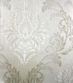 Sharp Damask Grey, Silver | designyourwall.com
