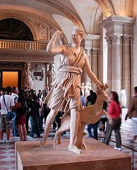Artemis and the Stag (shannonrossalbers) Tags: paris france art statue museum greek stag roman louvre goddess diana marble artemis mythology huntress picnik shannonrossalbers
