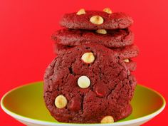 Red Velvet Polka Dot Cookies. Yummy for Christmas, Valentines Day or anytime, via The Runaway Spoon    http://therunawayspoon.com/blog/2011/12/red-velvet-polka-dot-cookies/