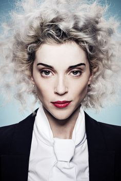Stunning St Vincent for NME magazine. Hair and makeup by Celine Nonon