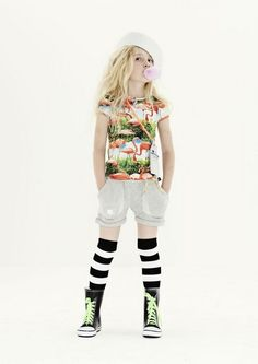 Molo Kids summer 2013 | Kixx Online  Funky Flamingo Tee, Silver Shorts, Striped Socks and Neon Laces
