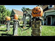 Paige Hemmis' DIY Pumpkin Fence Pillars - YouTube