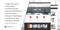 Stability :: Responsive Joomla! Template Multipurposes Joomla! Template ideal for blog, business, corporate, portfolio and more. With 8 color schemes, customizable template options.