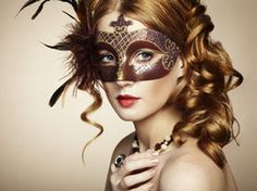 Beautiful young woman in brown mysterious venetian mask by heckmannoleg on  PhotoDune. Beautiful young woman in brown mysterious venetian mask. f870012c143
