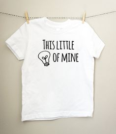 This Little Light of Mine Black & White Toddler Tshirt - Christian Toddler Tee - Kids Bible Shirt