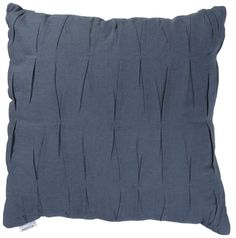 This linen denim pleat cushion mixes old school materials with contemporary design adding comfort and authentic style to your room. #cushion #bluemonday