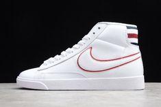 Women/Men New Year Deals Nike Blazer Mid Premium White/Blackened Blue-Red Crush Nike Jordan 13, Nike Air Max 2, Adidas Shoes Women, Nike Shoes, Sneakers Nike, Men's Shoes, Casual Sneakers, White Sneakers, Nike Basketball Shoes